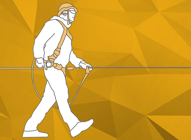 Preventing falls from height :  App for Designing a Fall Protection System