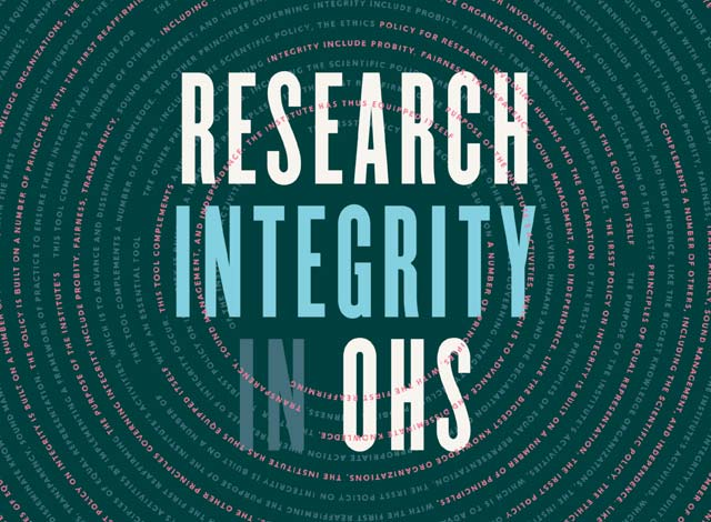 2016 Activity Report - Research Integrity in OHS
