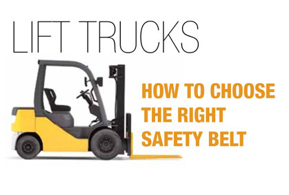 Safety belt for lift-trucks