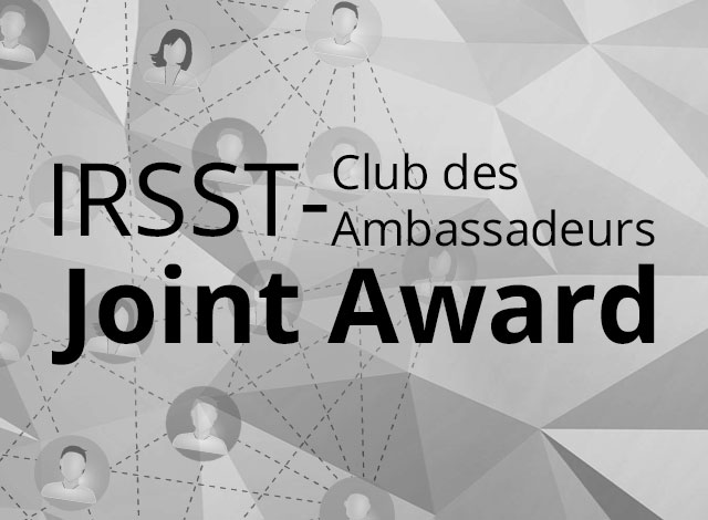 The first IRSST/Ambassadors' Club of the Palais des congrès de Montréal Joint Award