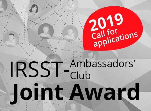 Submit your application for the IRSST/Ambassadors' Club of the Palais des congrès de Montréal Joint Award and you could win $10,000!